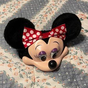 90s Disney Minnie Mouse Hat Ears 3D Face Vintage